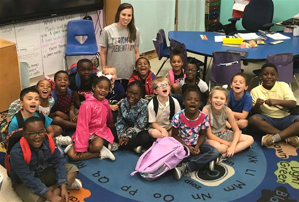 Teacher of the month - Kayla Little 1st grade
