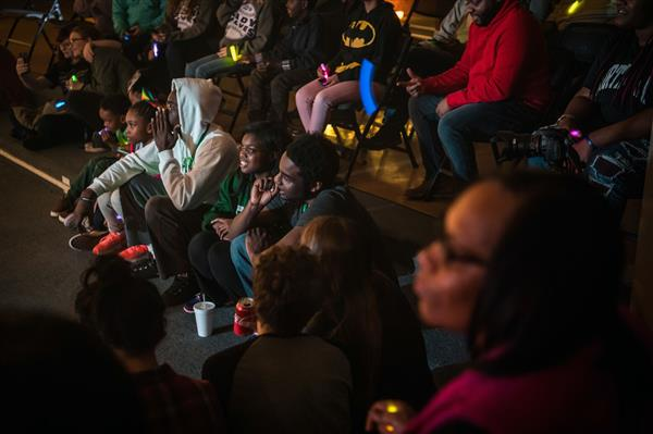 Delta State's DMI (Delta Music Institute) and Art program transformed Cypress Parks Elementary into a sound stage and music venue. Cleveland students and community members were in the audience to experience the free concert featuring DMI performers
