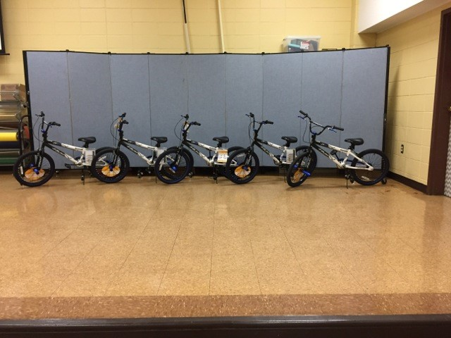 Thank you to our sponsors for purchasing the new bike incentives: Security Services, Cleveland Funeral Home, Cannon Ford, Cleveland's Exchange Club and Pearman Booster Club!