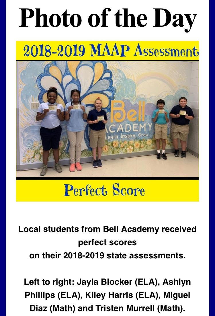 Students score a perfect score on the Mississippi Academic Assessment Program.